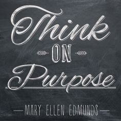 Time Out for Women - February Challenge: Think on Purpose!❤️