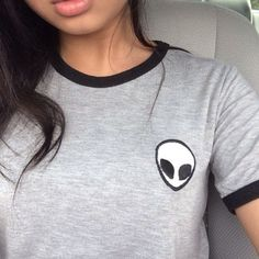 cute shirts tumblr   alien dope tumblr outfit graphic tee back to school shirt t-shirt grey ...