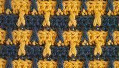 Punto 16 tejido a crochet