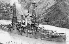 Panama Canal Construction Historic Photo - Cucaracha Slide 1915 - This Day in History: Aug 15, 1914: Panama Canal open to traffic