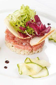 Recette Tartare de courgettes et saumon