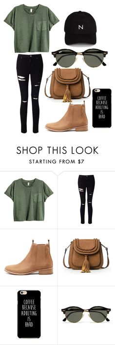 """""""sk8"""" by altxya on Polyvore featuring Miss Selfridge, Mollini, Ray-Ban and New Black"""