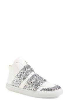 MM6 Maison Margiela Glitter High Top Sneaker (Women) available at #Nordstrom
