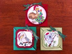 Aussie Christmas cards created with all Kaszazz products