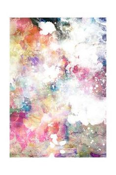 Abstract Grunge Texture With Watercolor Paint Splatter Art Print by run4it at Art.com