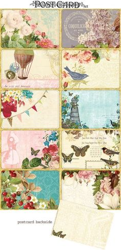 These printables bring to mind the name cards Laura Ingalls traded with her friends... and brash young gentlemen.