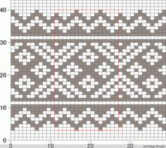 Fair Isle Knitting Patterns, Knitting Charts, Weaving Patterns, Loom Knitting, Knitting Stitches, Baby Knitting, Knitted Christmas Stockings, Christmas Knitting, Crochet Chart