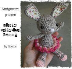 PATTERN  Little ballerinabunny crochet amigurumi by lilleliis, $5.50