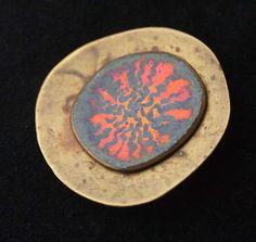 Enamel on Copper Pin, circa 1950s-1970s.