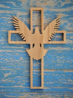 Wooden Cross with Dove by TheArtfulTree on Etsy