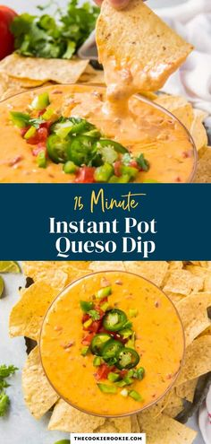 Ready to serve in just 15 minutes, this is a great last minute Mexican dip recipe. This Instant Pot queso dip is so delicious served up with some tortilla chips or drizzled onto your favorite Mexican main dishes. Mexican Dip Recipes, Mexican Main Dishes, Cheese Dip Recipes, Mexican Appetizers, Game Day Appetizers, Ethnic Recipes, Queso Recipe, Best Instant Pot Recipe, Party Dishes