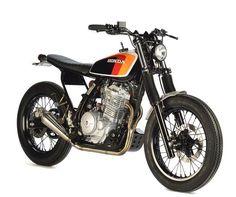 "Honda NX650 ""Boris Chambon"" by @legaragedefelix. #nx650 #dominator #tracker #streettracker #supermoto"