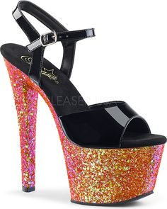 Pleaser - SKY-309LG Red Multi Glitter