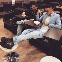 Kevin Roldan and friend style