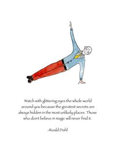 Roald Dahl's lovely short story The Wonderful Story of Henry Sugar introduced my little girl self to the idea of 'yoga'. It was such an exotic, unfamiliar way of being. Many years… Roald Dahl Day, Roald Dahl Quotes, Shel Silverstein, Typewriter Series, Quotes To Live By, Me Quotes, Believe In Magic, Insta Posts, Wedding Humor