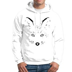 7078df093 Stickle Mens Trendy Fox Eyes Hoodies S White -- For more information