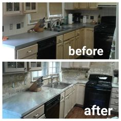 Workshop Girl: DIY Faux Marble Countertops over existing laminate