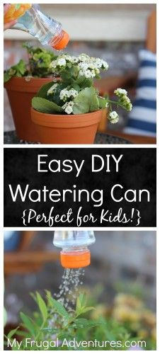 Super simple homemade watering can, perfect for children in the garden!
