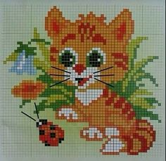 21 Cats And Kittens Reminding You What Cute Looks Like Cross Stitch Owl, Butterfly Cross Stitch, Cross Stitch Bookmarks, Cross Stitch Animals, Cross Stitch Flowers, Cross Stitching, Cross Stitch Embroidery, Modern Cross Stitch Patterns, Cross Stitch Designs