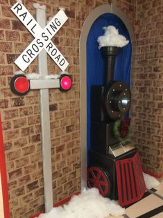 Our entry in the Robarts Research Institute door decorating contest. Our entry in the Robarts Research Institute door decorating contest. Our entry in the Robarts Research Institute door decorating contest. Polar Express Christmas Party, Ward Christmas Party, Christmas Train, Kids Christmas, Xmas, Christmas Door Decorating Contest, Office Christmas Decorations, Christmas Themes, Holiday Crafts