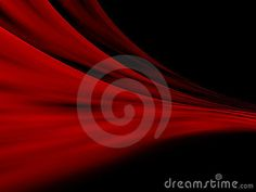 Red Abstract curtains over black background