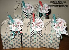 Handmade treat boxes using Stampin' Up! products - Homemade for You Stamp Set and All Boxed Up Kit. By Michele Reynolds, Inspiration Ink, http://inspirationink.typepad.com/inspiration-ink/2015/06/homemade-for-you-blueberry-boxes.html. #stampinup #inspirationink #homemadeforyou #allboxedup