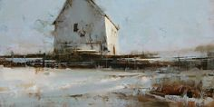 """Tibor Nagy """"Silence"""" Oil on Linen  10 x 20"""