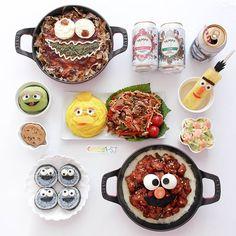 Sesame Street themed dinner by (@meba_sj)