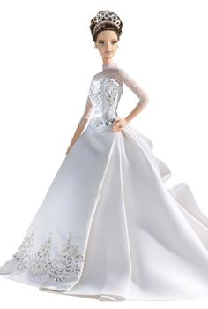 Style in athens: Barbie's Style! Barbie is a registered trademark of Mattel… Barbie Bridal, Barbie Wedding Dress, Wedding Doll, Barbie Gowns, Barbie Dress, Barbie Clothes, Barbie E Ken, Bridal Gowns, Wedding Gowns