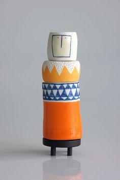 A Totem called Jasper ceramic sculpture door vanessabeanshop