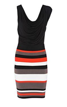 Karen Millen Colourblock Bandage Dress Black and Multi - suit-dresses.com - $89.34