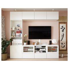 96 veces he visto estas estupendas muebles minimalistas. Tv Ikea, Living Room Tv Unit Designs, Muebles Living, Tv Wall Design, Living Room Decor, Ikea Living Room Storage, Wall Cabinets Living Room, Living Rooms, Tv Rooms