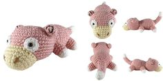 i crochet things: Free Pattern Friday: Slowpoke Amigurumi