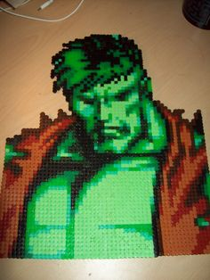 The Incredible Hulk Hama Perler Beads by ABeadsCStart
