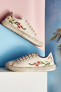 4a7123f0963 Maypol Embroidered Espadrille Sneakers. BottesPieds NusChaussure ...