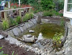 Small Backyard Wildlife Ponds Water fountains add a peaceful sound to any garden