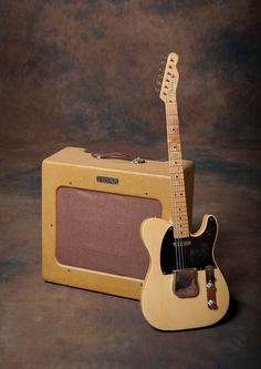 1951 Fender Telecaster and Amp -  The class of 1951. Here we see one of the first 250 Telecasters ever made. October 1951 neck and body date with the matching pro amplifier. This would be what I would have used if I was a member of Bob Wills Texas Playboys!