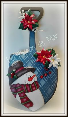 Del Rincón de Mar: Pala de madera Navidad-Del Rincón de Mar-