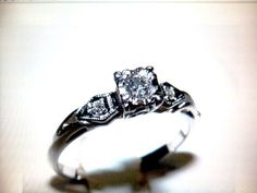 Any other vintage engagement rings? 1950s Engagement Ring, Wedding Engagement, Wedding Rings, Silver Lockets, Heart Ring, Ethnic, Jewellery, Comics, Craft