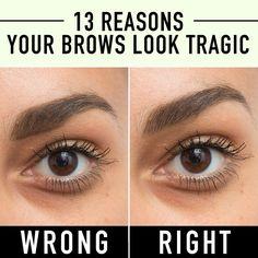 eyebrows, makeup, beauty