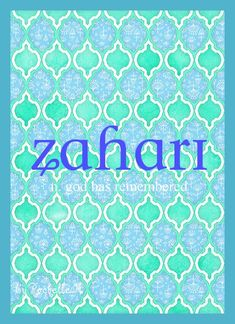 Baby Girl or Boy Name: Zahari. In its Hebrew origin it is a girl name but more popularly it is a Bulgarian version of the boy name Zachary. Meaning: God Has Remembered. http://www.pinterest.com/vintagedaydream/baby-names/