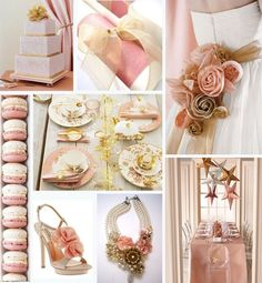 Color Scheme- Blush Pink And Gold