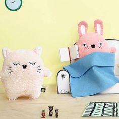 Noodoll - kussen - Ricemimi - kat - champagne #kids #toys #playtime #dolls #cuddletime #noodoll #oohnoo #kidsroom #kinderkamer #littlethingz