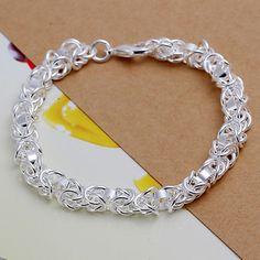 Free Shipping Bracelet 925 Silver Bracelet 925 Silver Fashion Jewelry Bracelet Leading shrimp buckle bracelet CH073