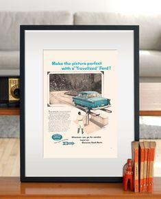 VINTAGE FORD Ad Retro Car Ad FORD Classic by EncorePrintSociety