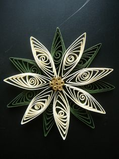 Paper Quilled Christmas Poinsettia Ornament by Customcrafter500, $4.00