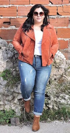 41 Trendy Fall Outfit Ideas for Plus Size Women Outfit, # Trendy Fall Outfits, Spring Outfits Women, Fall Fashion Outfits, Fall Fashion Trends, Mode Outfits, Autumn Fashion, Fall Fashions, Fashion Ideas, Plus Size Fall Outfit