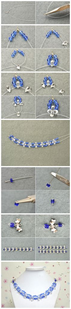 Learn from How to make necklaces at home, - DIY Schmuck Beaded Bracelets Tutorial, Beaded Bracelet Patterns, Diy Crafts Jewelry, Bracelet Crafts, Jewelry Making Tutorials, Jewelry Making Beads, Jewellery Making, Diy Schmuck, Homemade Jewelry