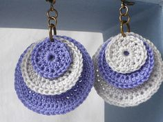 Items similar to Colors to choose cotton earrings on Etsy, Diy Abschnitt, Crochet Jewelry Patterns, Crochet Earrings Pattern, Crochet Accessories, Crochet Designs, Fabric Jewelry, Diy Jewelry, Crochet Minecraft, Bracelet Crochet, Crochet Fashion