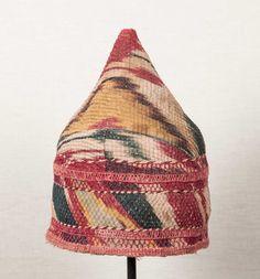 7x8 inches Antique Turkmen Chodor Hat from by SOrugsandtextiles